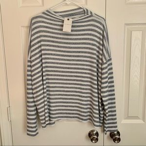 NWT Lucky Brand Soft Striped Long Sleeve Knit Top